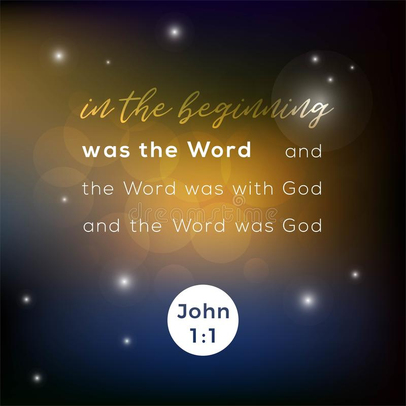 Verso bíblico de la escritura, para el uso como cartel, impresión en la camiseta stock de ilustración