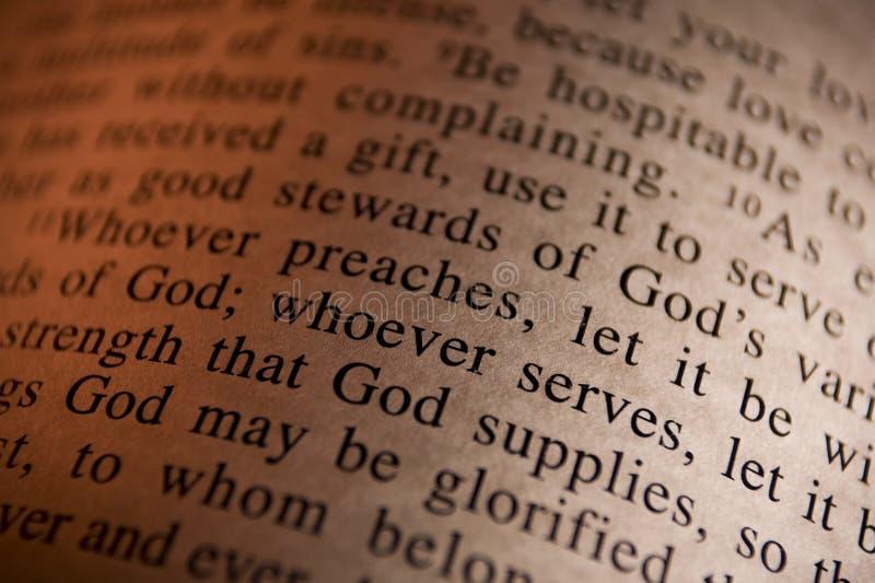 Verso da Bíblia fotos de stock royalty free