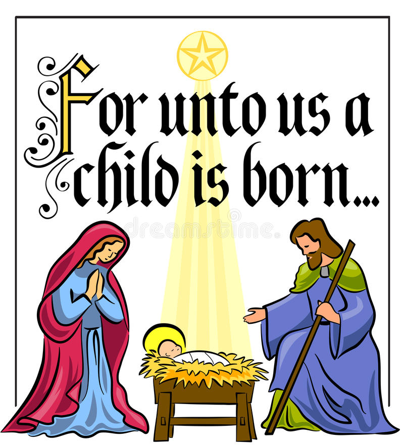 Verso da natividade do Natal