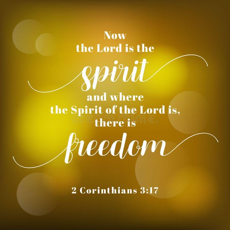 Verso de la biblia de Corinthians stock de ilustración