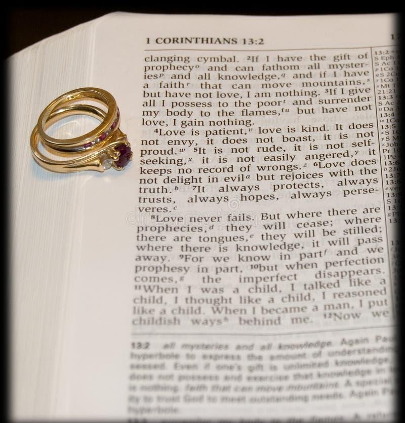 Verso del amor con los anillos imágenes de archivo libres de regalías