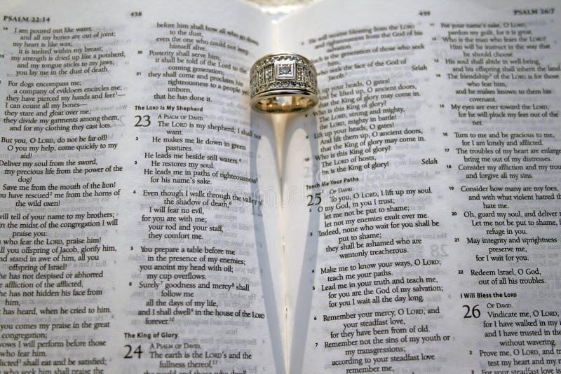 Verso della bibbia del salmo 23 fotografie stock libere da diritti