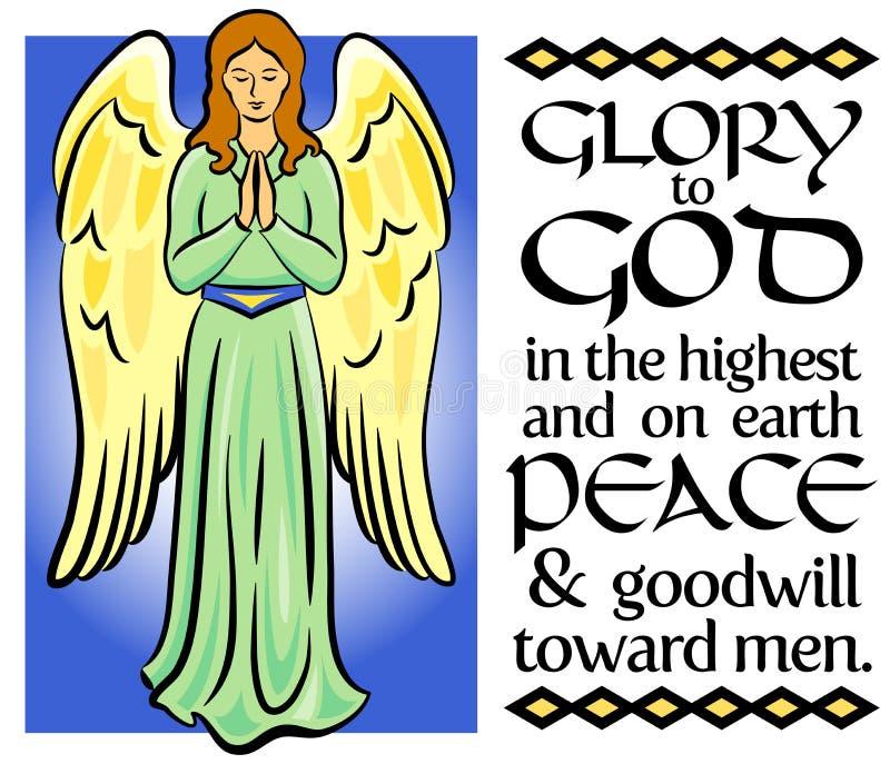 Verso do Natal do anjo ilustração royalty free