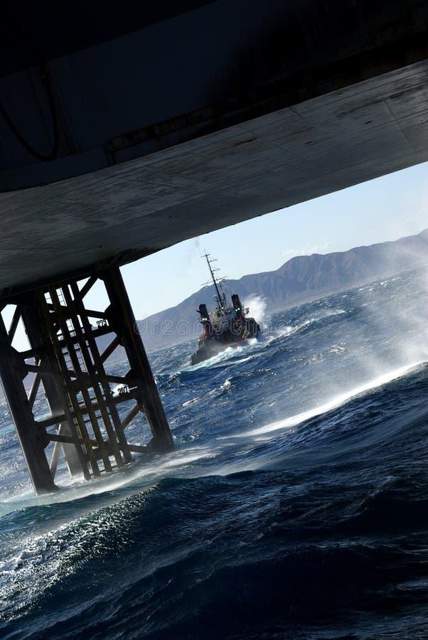 Verso il mare aperto immagini stock