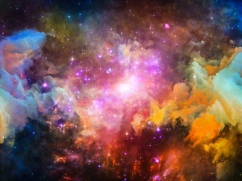 Verso la nebulosa di Digital illustrazione vettoriale