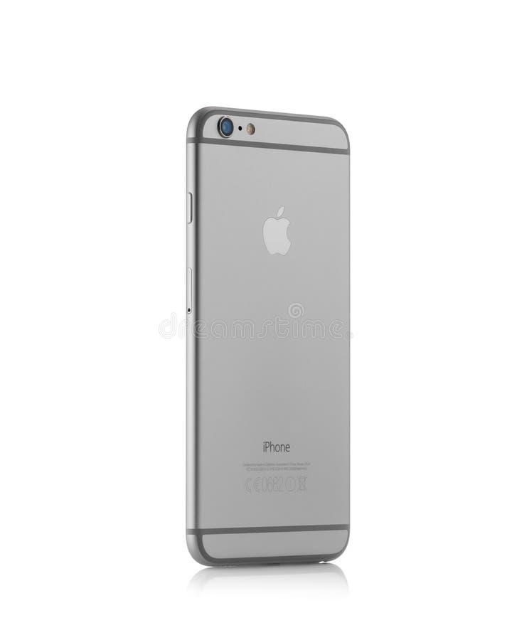 Verso novo do iPhone 6 de Apple imagem de stock
