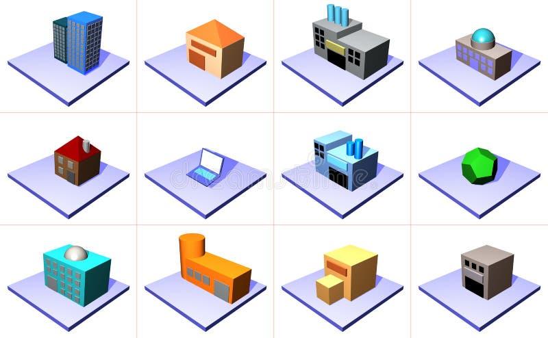 Versorgungskette-Management-Ikonen-Symbol-Set stock abbildung