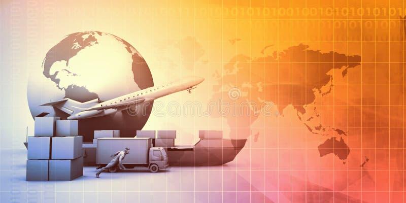 Versorgungskette-Management lizenzfreie abbildung