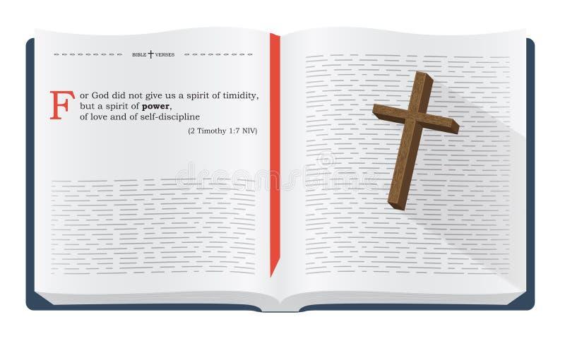 Versos de la biblia para el estudio de la biblia stock de ilustración