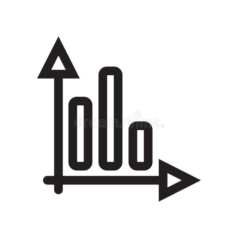 Verspert grafisch pictogram vectordieteken en het symbool op witte achtergrond wordt geïsoleerd, verspert grafisch embleemconcept stock illustratie