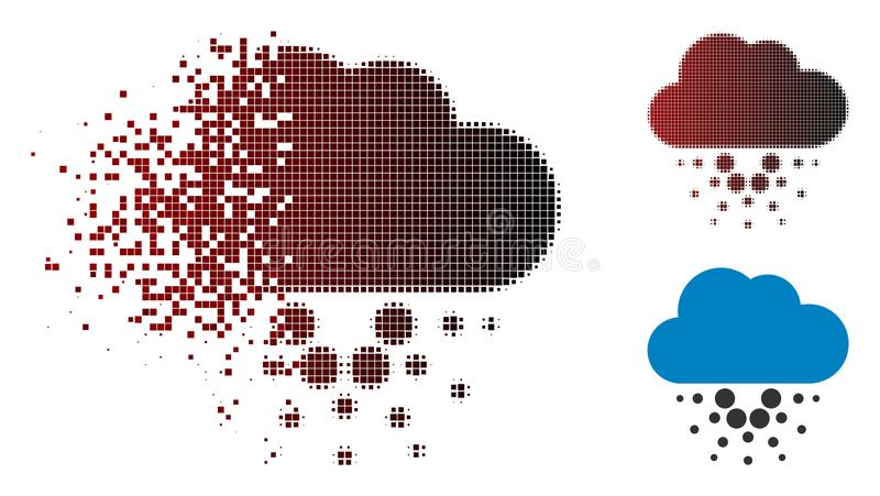 Versplinterd de Wolkenpictogram van Pixel Halftone Cardano royalty-vrije illustratie