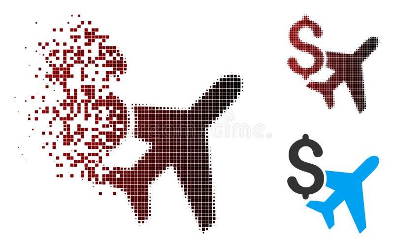 Versplinterd van de Bedrijfs pixel Halftone Luchtvaart Pictogram stock illustratie