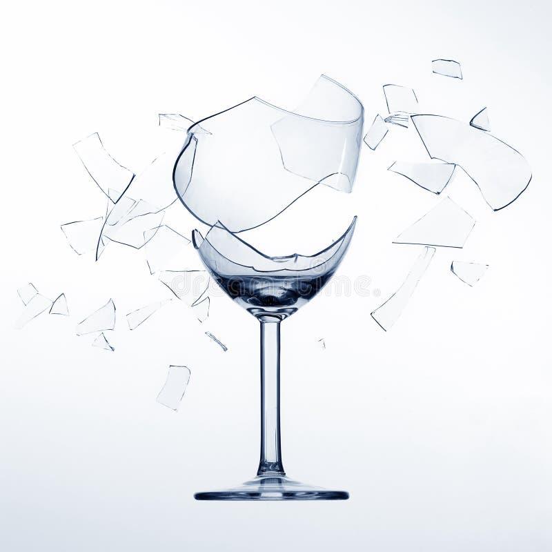 Versplinterend wijnglas royalty-vrije stock foto's
