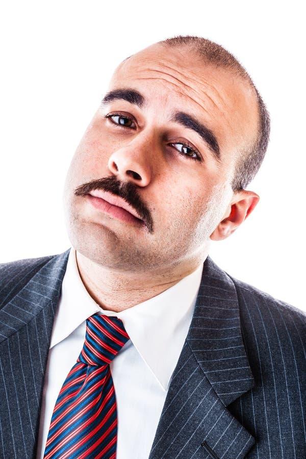 Verspottender Geschäftsmann stockfoto