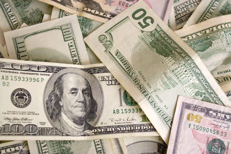 Verspreid Contant geld stock afbeelding