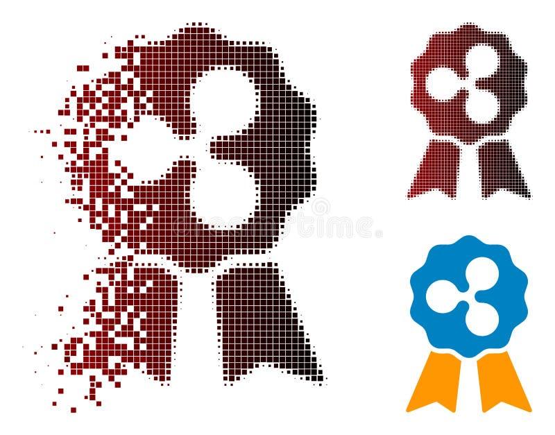 Verspreid Dot Halftone Ripple Reward Ribbons-Pictogram royalty-vrije illustratie