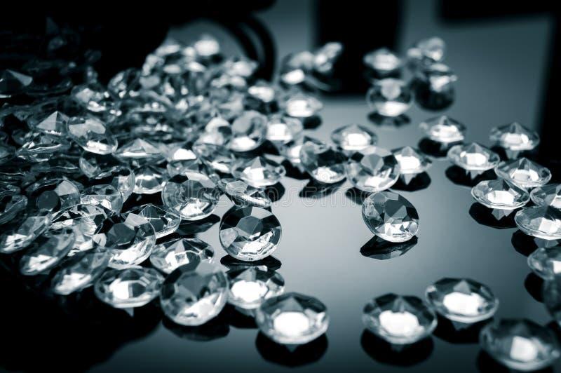 Verspreide diamant stock foto