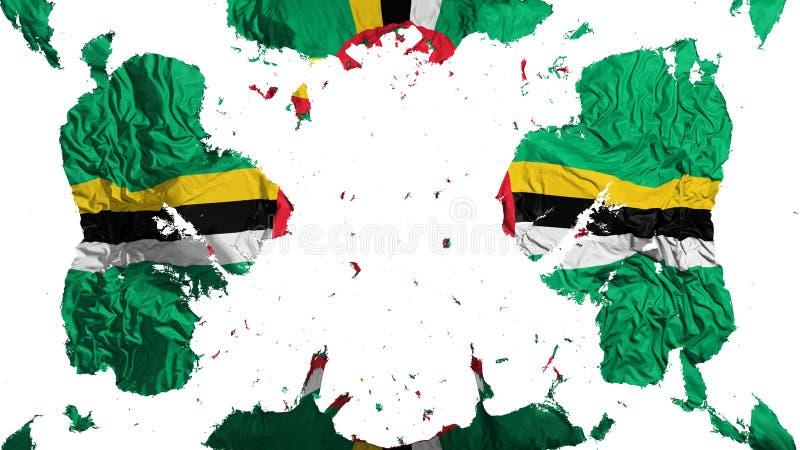 Verspreide Dominica vlag stock illustratie