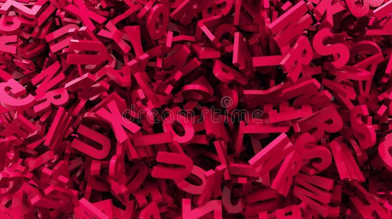 Verspreidende rode kleuren 3d tekst royalty-vrije stock foto's