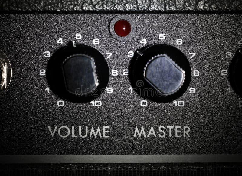 Verstärker potis volum und Original stockfoto