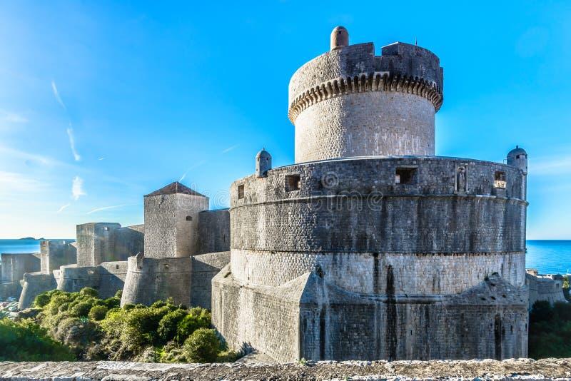 Verstärkte Stadt Dubrovnik in Kroatien, Europa lizenzfreie stockfotos