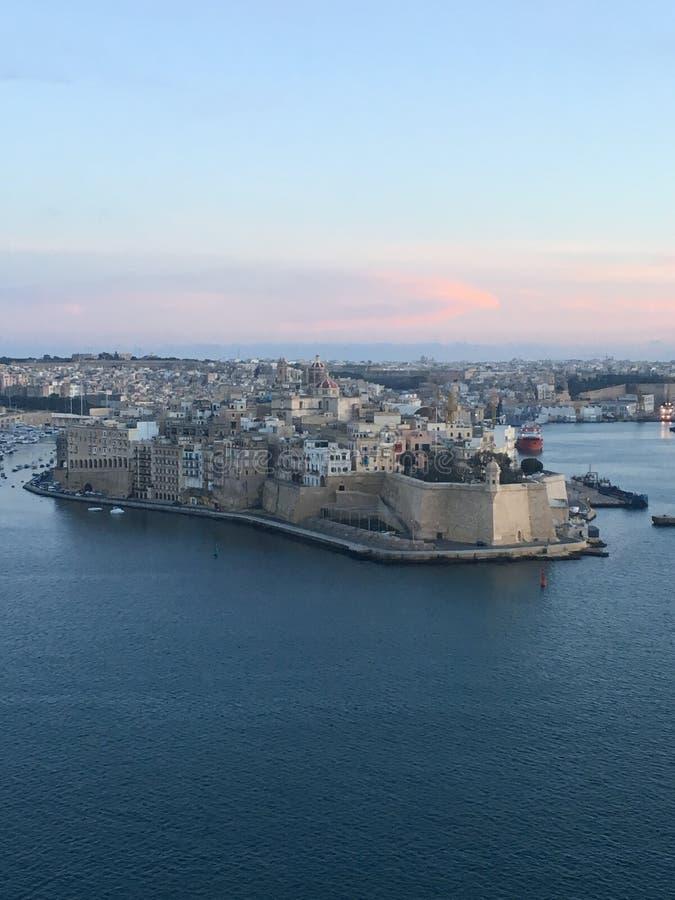 Verstärkte Stadt von Valletta stockbild