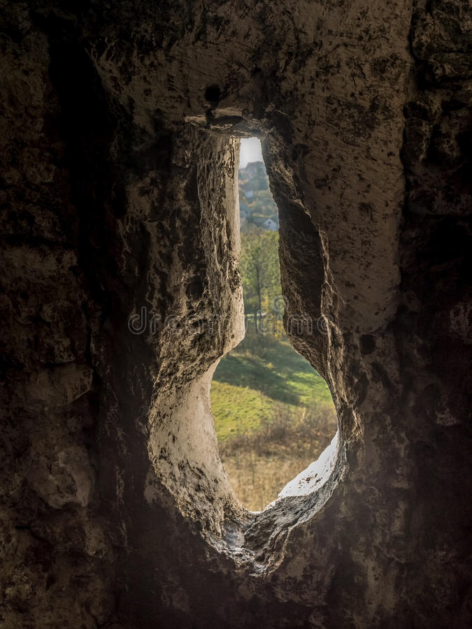 Verstärkter Wand Embrasure stockfotografie