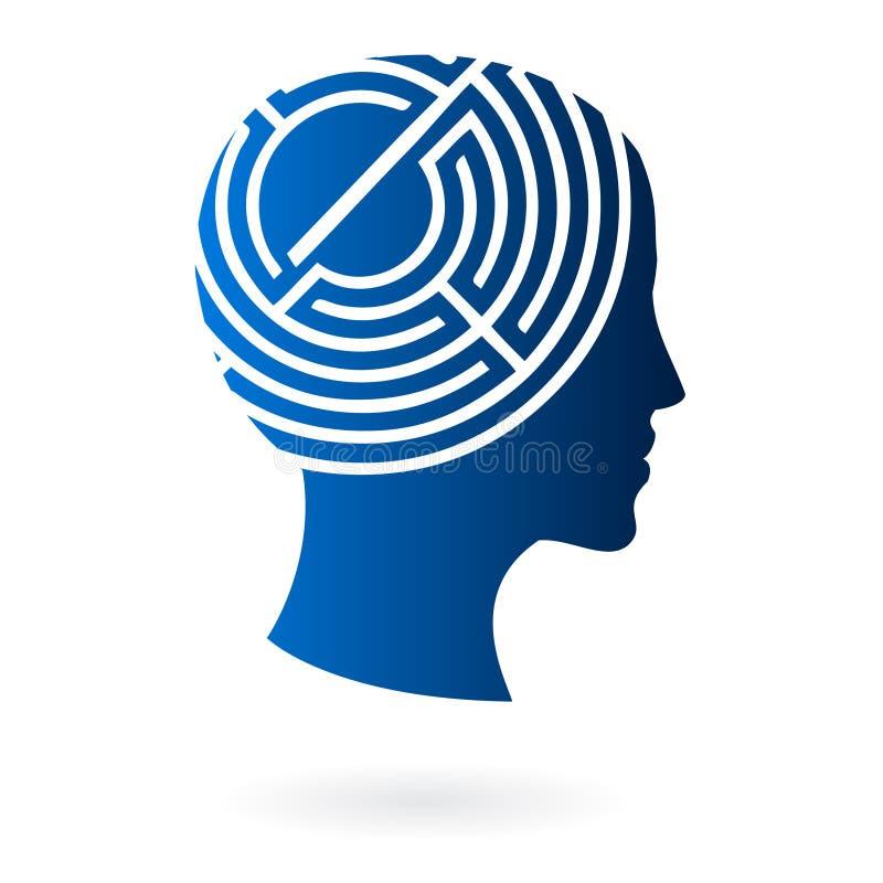 Verstand als Labyrinthvektor lizenzfreie abbildung