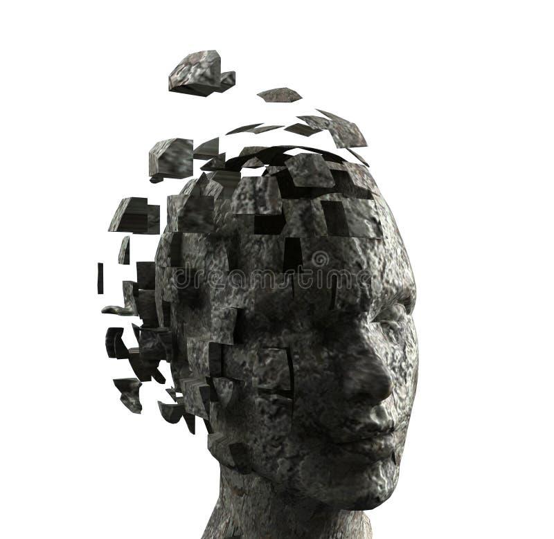Verstand der Frau stock abbildung