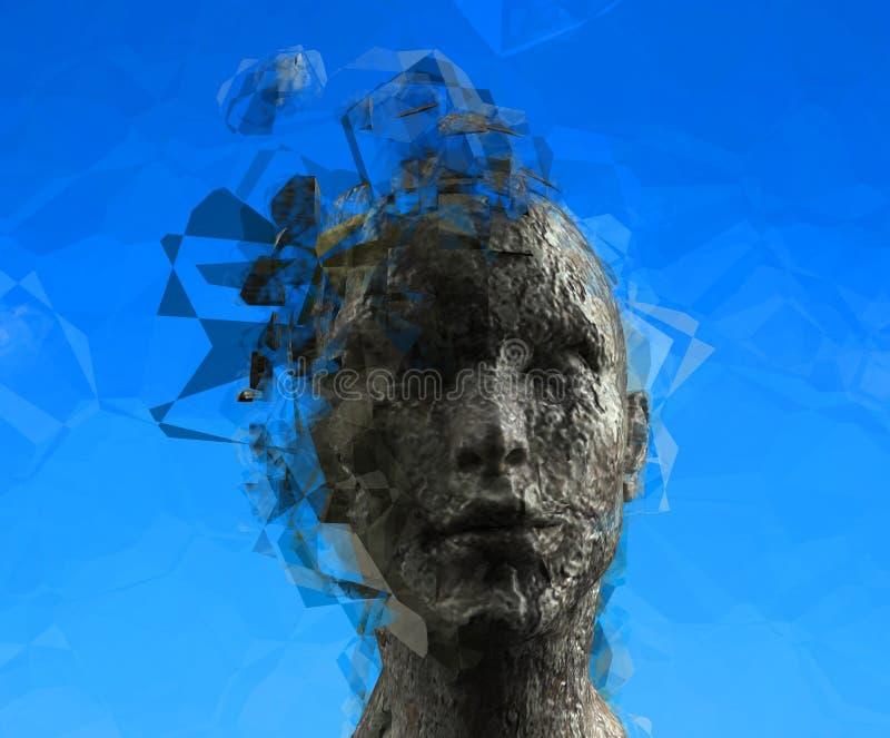 Verstand der Frau lizenzfreie abbildung