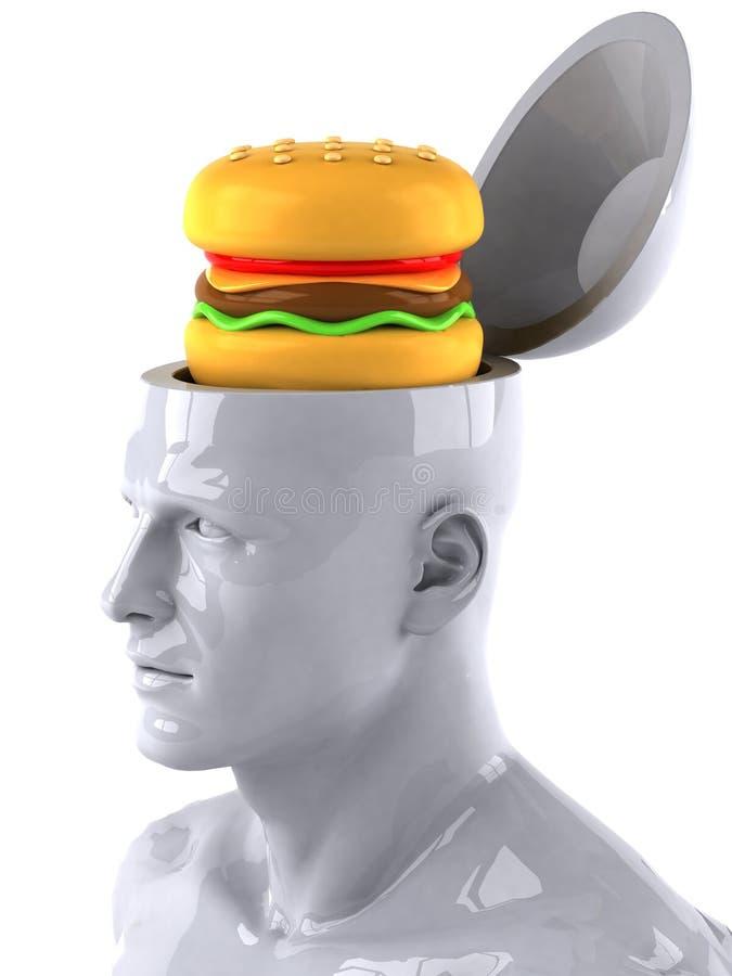Verstand und Nahrung vektor abbildung