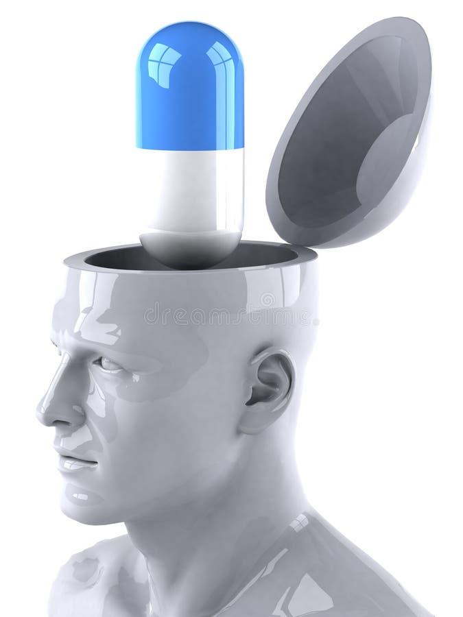 Verstand und Pille stock abbildung
