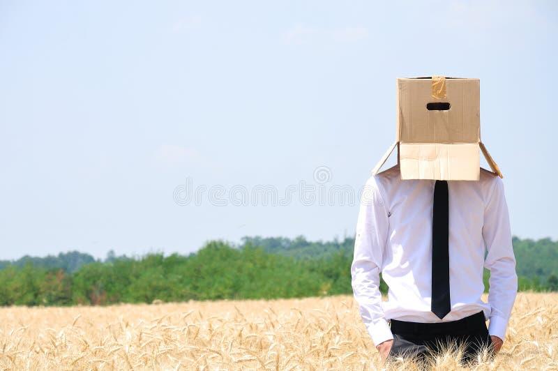 Versteckendes Gesicht Des Geschäftsmannes Lizenzfreies Stockbild