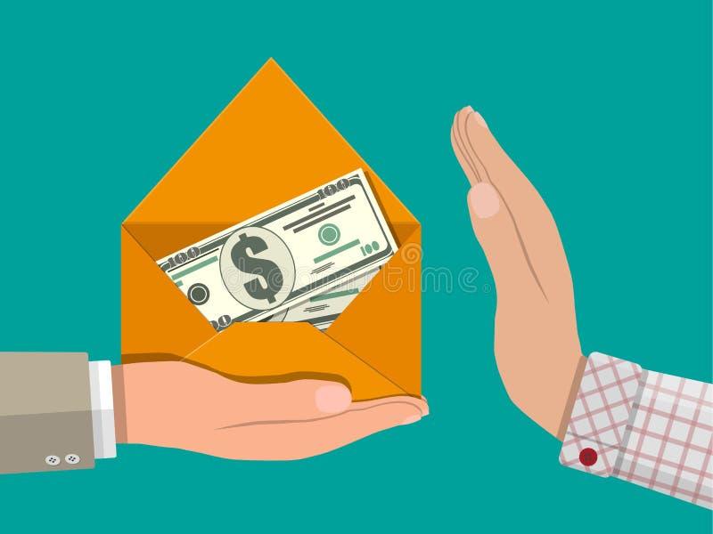 Versteckte Löhne, schwarze Zahlungen, Steuerhinterziehung, Bestechungsgeld lizenzfreie abbildung