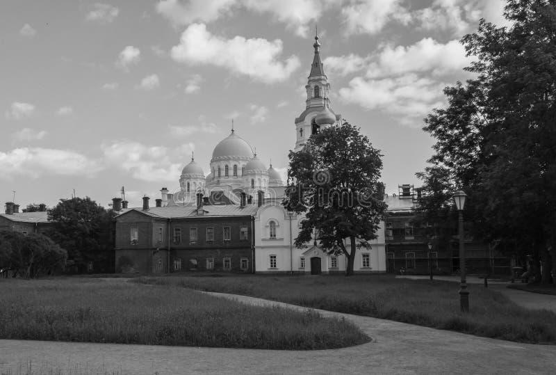 Versteckte orthodoxe Kathedrale lizenzfreie stockbilder
