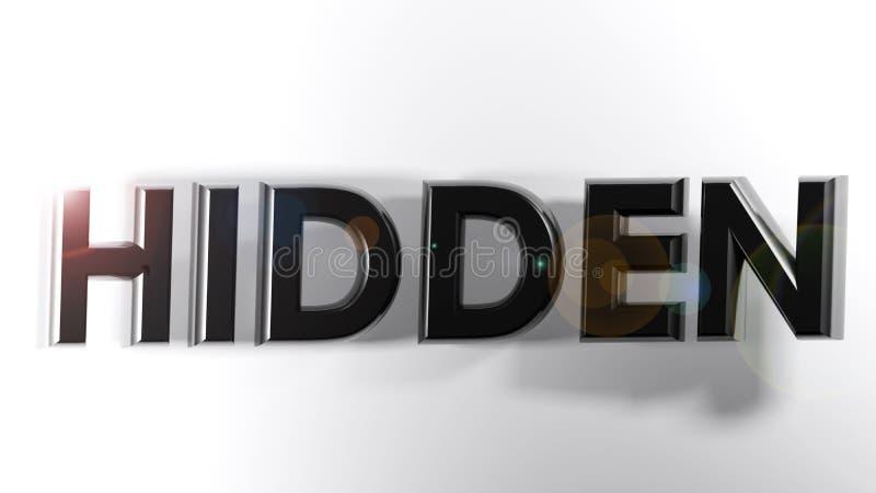Versteckte Schwarze schreiben - Wiedergabe 3D vektor abbildung