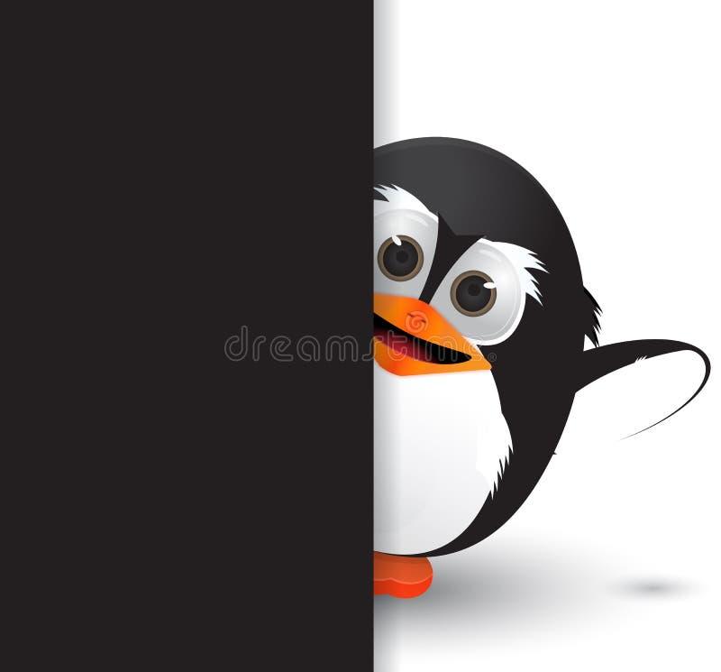 Versteckter Pinguin stock abbildung