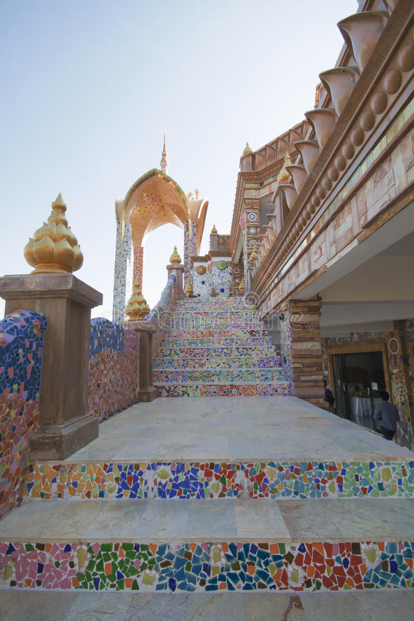 Verstecktes Glas Pha Pha (Wat Pha Kaew) stockbild