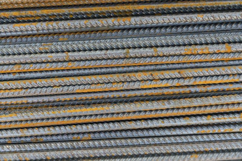 Versterk de staaf van het staalijzer stock afbeeldingen