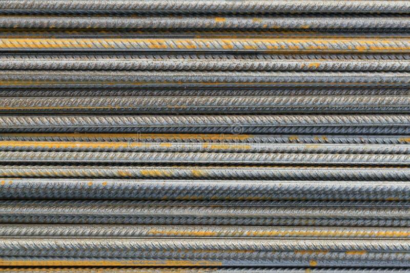 Versterk de staaf van het staalijzer stock afbeelding