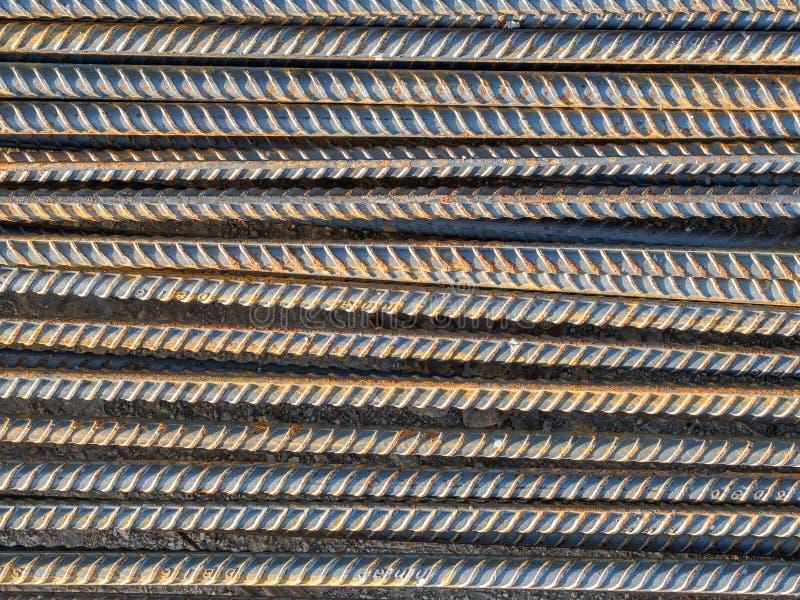 Versterk staalstaaf stock foto