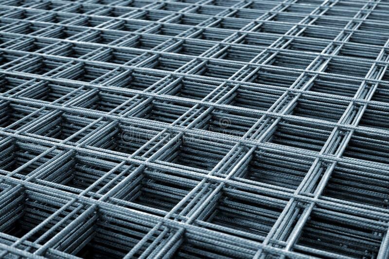 Versterkend staalnetwerk royalty-vrije stock afbeelding