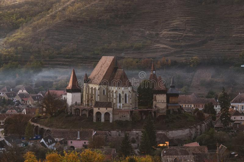 Versterkte kerk Biertan royalty-vrije stock fotografie