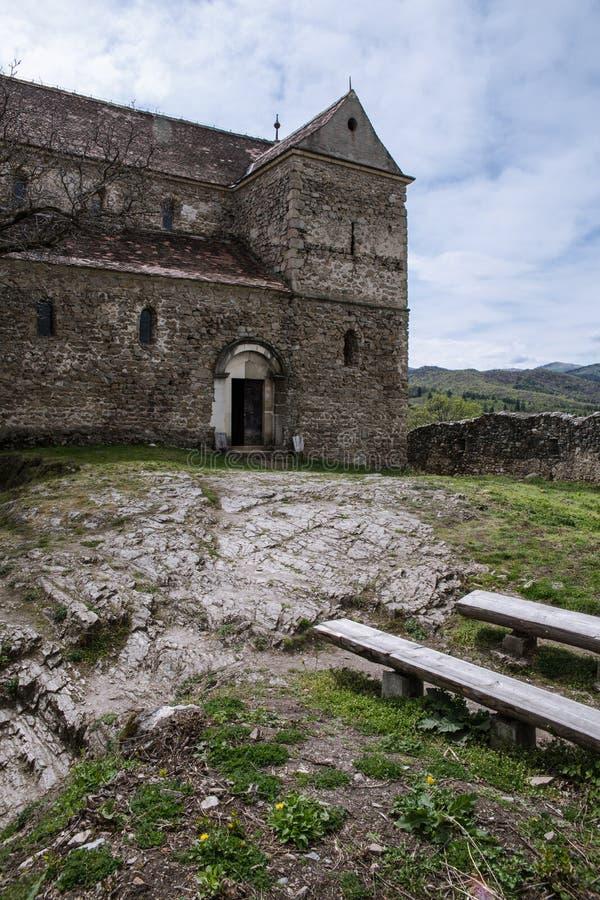Versterkte Kerk in Cisnadioara stock fotografie