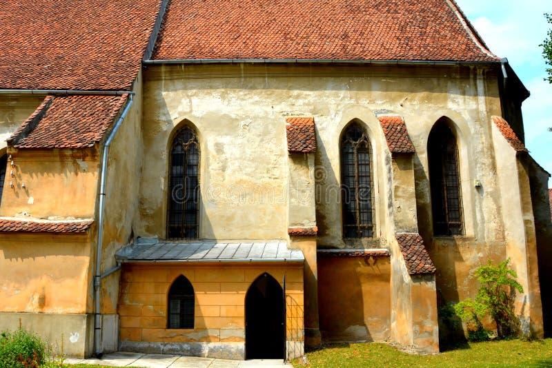 Versterkte kerk Codlea stock afbeeldingen