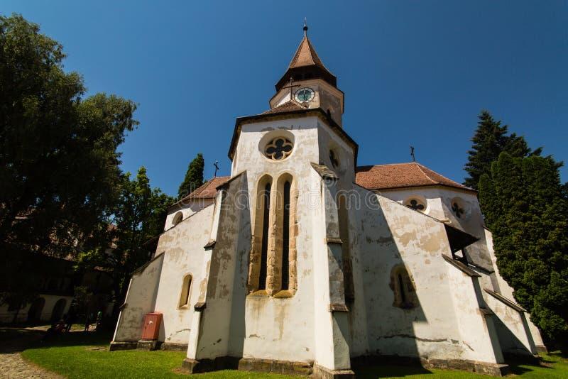 Versterkte kerk in Tartlau Prejmer Roemenië royalty-vrije stock afbeelding