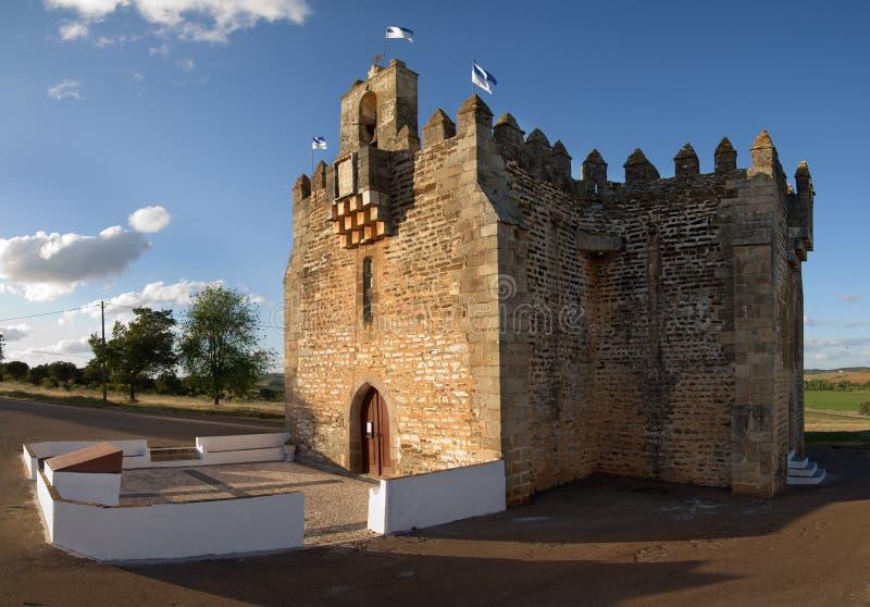 Versterkte kerk van de BoA-Nova van Nossa Senhora DA royalty-vrije stock afbeelding
