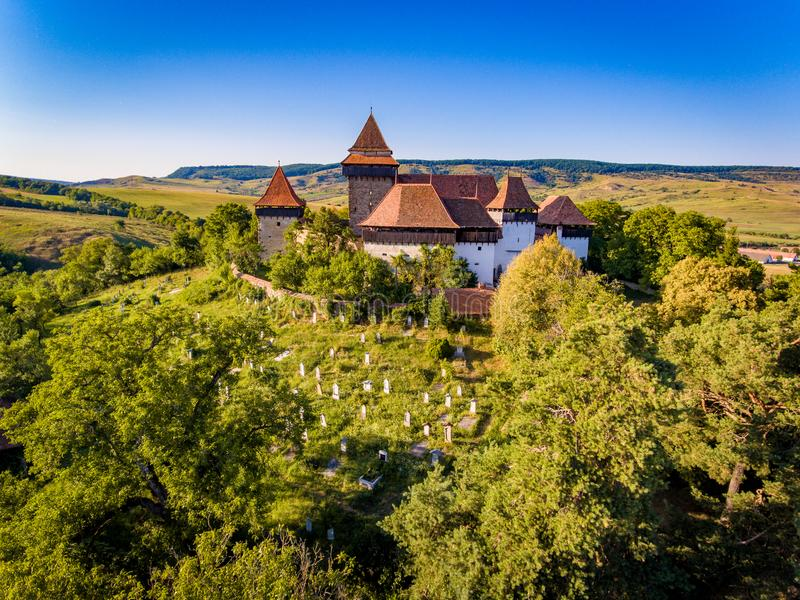 Versterkte Kerk Viscri royalty-vrije stock foto