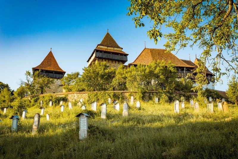 Versterkte Kerk Viscri stock foto
