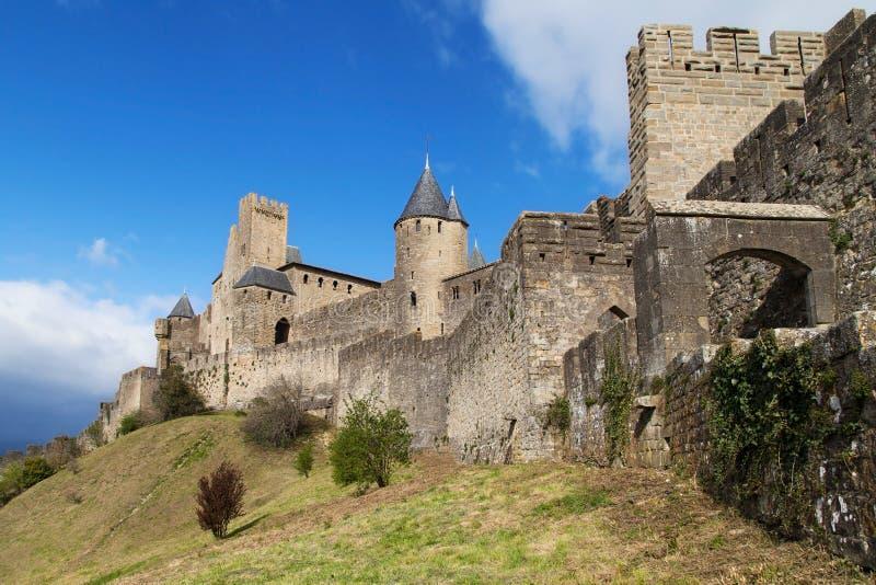 Versterkte stad van Carcassonne royalty-vrije stock afbeelding